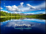PowerPoint Template - Beautiful lake in Altai mountains