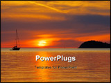 PowerPoint Template - This is sunset from the San Juan Islands in Washington State