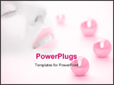 PowerPoint Template - Beautiful female face