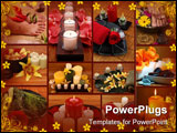 PowerPoint Template - Aromatherapy spa pedicure collage with roses lilies and orchids