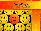 PowerPoint Template - happy crowd except one - see portfolio for more smilies