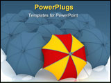 PowerPoint Template - 3d render of umbrella which is not similar to other umbrellas.