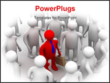 PowerPoint Template - Conceptual image of teamwork. 3D image