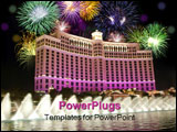 PowerPoint Template - bellagio fountains