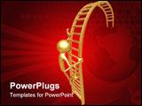 PowerPoint Template - concept & presentation figure 3d (geoz099)