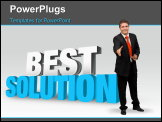 PowerPoint Template - 3D rendered illustration of the words Best Solution