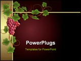 PowerPoint Template - Claret background with frame from gold vine