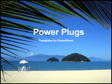 PowerPoint Template - sea beach and island