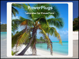 PowerPoint Template - coconut tree in a beach island