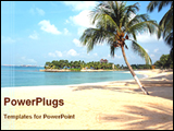 PowerPoint Template - beautiful view of a sea beach