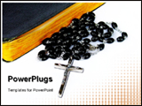 PowerPoint Template - Rosary Beads with Prayer Book