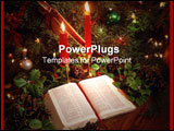 PowerPoint Template - christmas candles and the bible