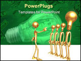 PowerPoint Template - concept & presentation figure 3d