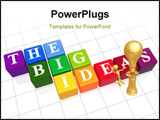 PowerPoint Template - 3d color boxes with white letters with text - the big ideas