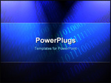 PowerPoint Template - bits and bytes on a blue background