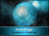 PowerPoint Template - a free interpretation of data transfers over the internet.