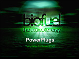 PowerPoint Template - Biofuel Bioenergy The Future of Energy Text on Green Seascape Horizon