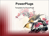 PowerPoint Template - Chinese painting - birds and flower
