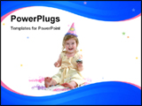 PowerPoint Template - Baby birthday Girl