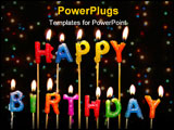 PowerPoint Template - a photo of happy birthday candles