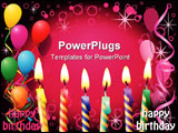 PowerPoint Template - Party Background with Balloons and Candles Square Format