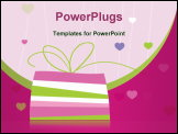 PowerPoint Template - Birthday card with copy space