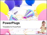 PowerPoint Template - The mess after the celebration is over... You clean up�with birthday girl