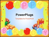 PowerPoint Template - Birthday Balloons - Background