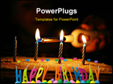 PowerPoint Template - birthday candles.
