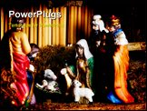 PowerPoint Template - Holiday items like visit of Epiphany to newborn Jesus...
