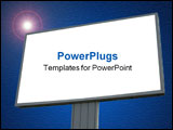 PowerPoint Template - blank billboard over blue cloudy sky, just add your text