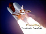 PowerPoint Template - Nasa Public Domain picture of shuttle blast off. Credit to NASA.