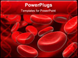 PowerPoint Template - 3d rendered illustration of many blood cells