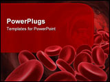 PowerPoint Template - Red Blood Cells- medical concept. 3D image.