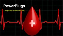 PowerPoint Template - 3D the concept about importance of donor blood
