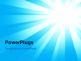 PowerPoint Template - Heavenly blue sky with bright sunshine and light beams