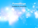 PowerPoint Template - abstract background with blurred defocused lights