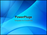 PowerPoint Template - Abstract Background Of Blue Color with smooth lines