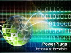PowerPoint Template - Blue Data Research and Development As Art