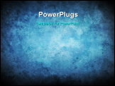 PowerPoint Template - A vignette blue texture background with stains and scratches