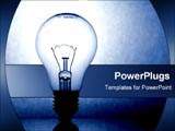 PowerPoint Template - A blue light bulb