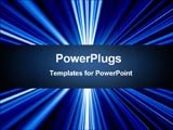 PowerPoint Template - Streaming rays of blue