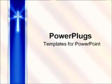 PowerPoint Template - A blue ribbon with cross