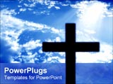 PowerPoint Template - siloutte of cross in the sky