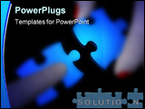 PowerPoint Template - Blurry female and male fingers holding matching puzzle pieces