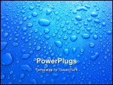 PowerPoint Template - Blue water drops background with big drops Slight graininess, best at smaller sizes