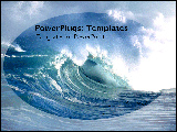PowerPoint Template - Huge blue wave crashing.