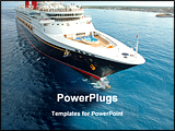 PowerPoint Template - a ship in the sea