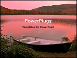 PowerPoint Template - sunrise on a lake in canada in the fall