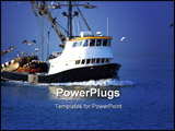PowerPoint Template - fishing boat in the ocean